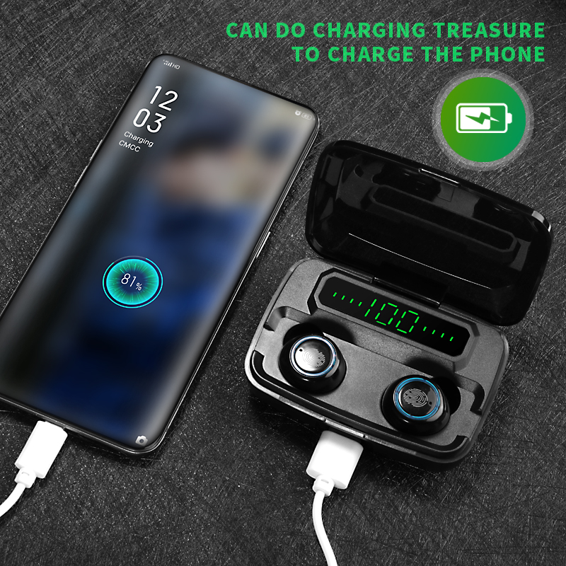 Bluetooth headphones stereo mode with power bank (Not found in stores)