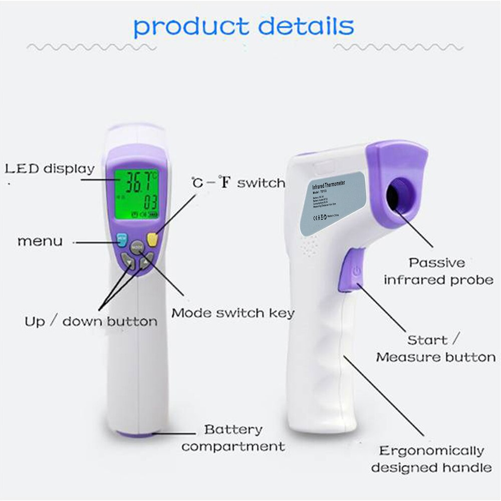 Multifunctional infrared thermometer