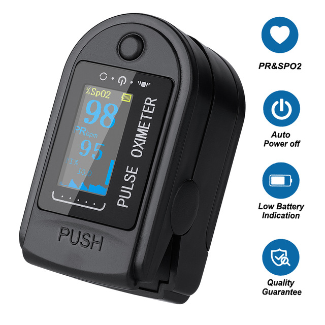 Finger oximeter, can be used in adults, youth and children.
