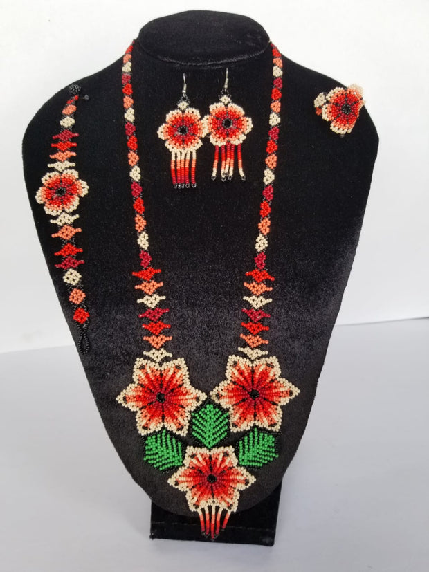 Necklace set 3 flowers