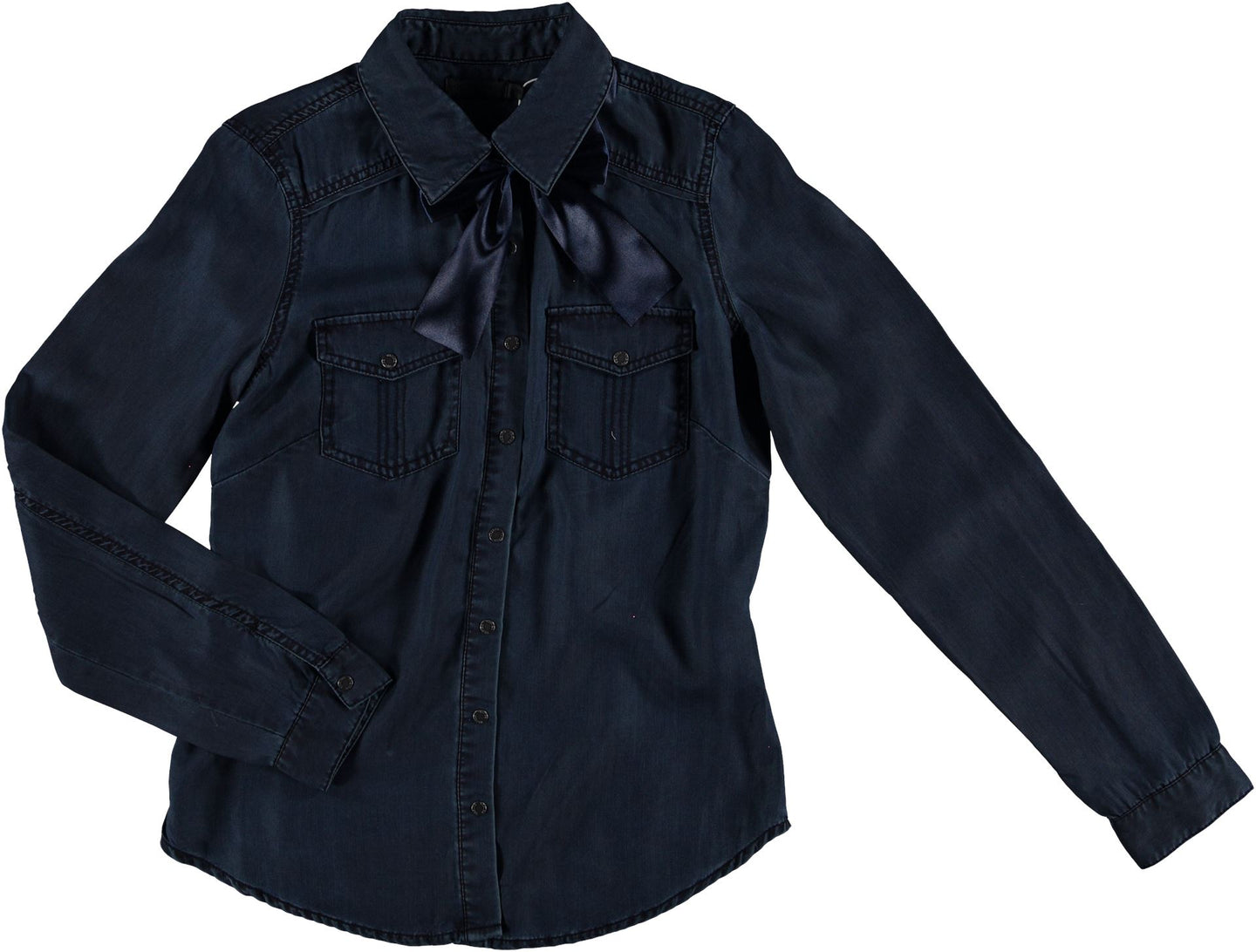 GEISHA - Blouse lyocell - 000880 - dark blue denim