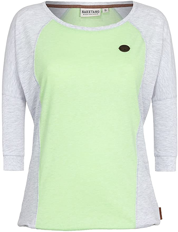 NAKETANO - T-shirt - Lime/grijs