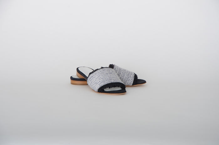 ANNE CLAIRE - SLIPPER  - ZWART