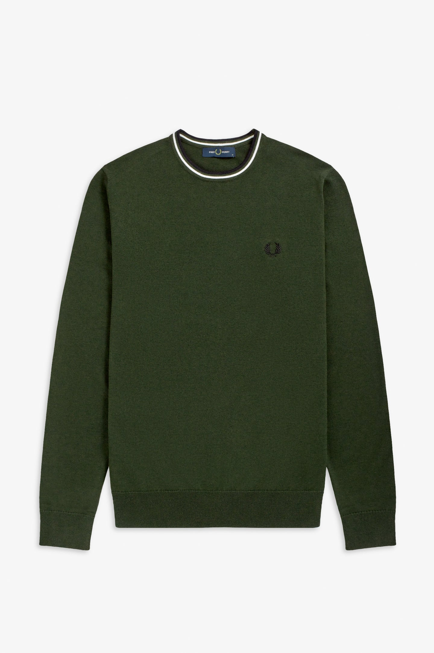 FRED PERRY - PULLOVER - M12 HNT GRN/SWHT/BLK