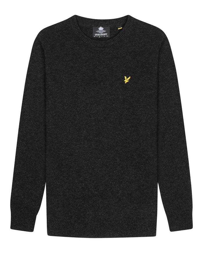 lyle & scott - CREW NECK LAMBSWOOL BLEND JUMPER - GRIJS