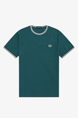 FRED PERRY - T-SHIRT - BLAUW