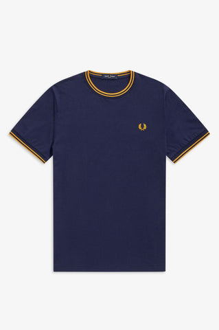 FRED PERRY - T-SHIRT - D41 CARBON BLUE