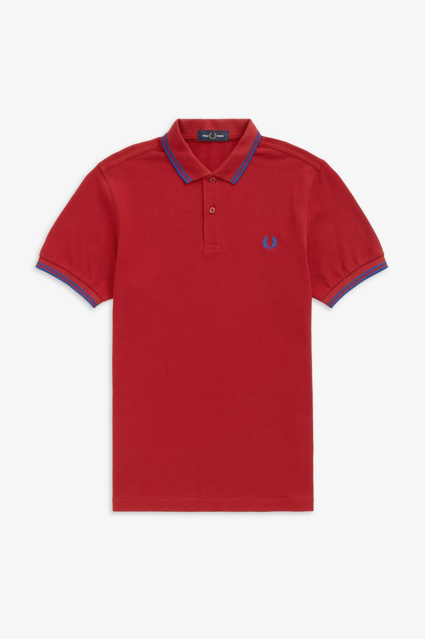 FRED PERRY - T-SHIRT - L45 DEEP RED/COBALT