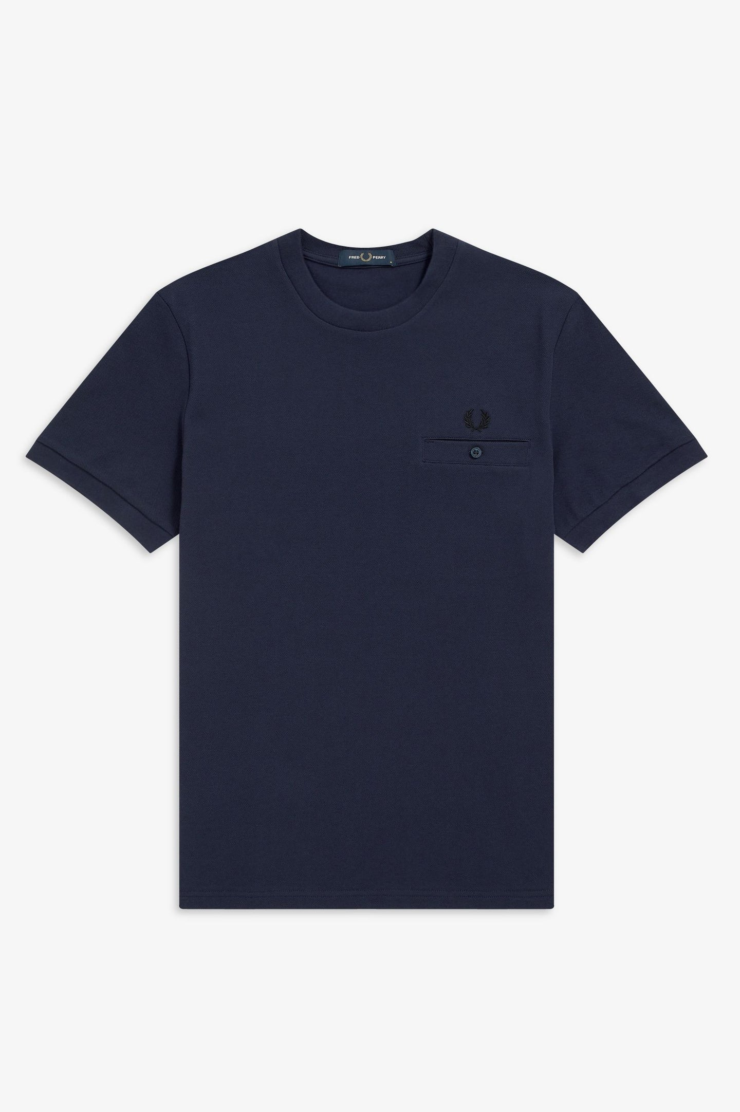 FRED PERRY - T-SHIRT - 266 CARBON BLUE