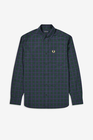 FRED PERRY - SHIRT - 266 CARBON BLUE