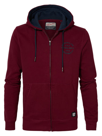 PETROL - Sweater Hooded - ROOD