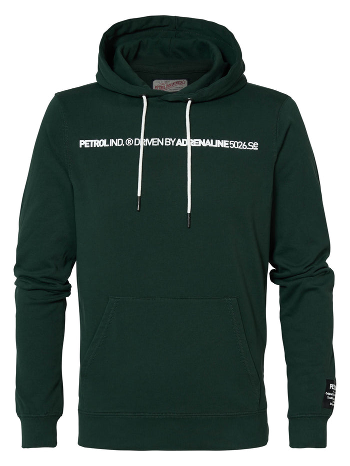 PETROL - Sweater Hooded - GROEN