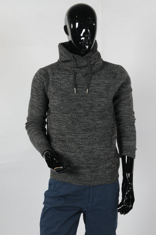 PETROL - Knit collar - ZWART