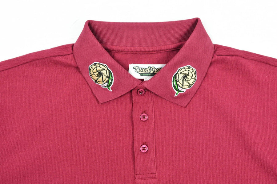 Blood Moon Polo Shirt (Blood Moon) - SweetGrass Clothing Company