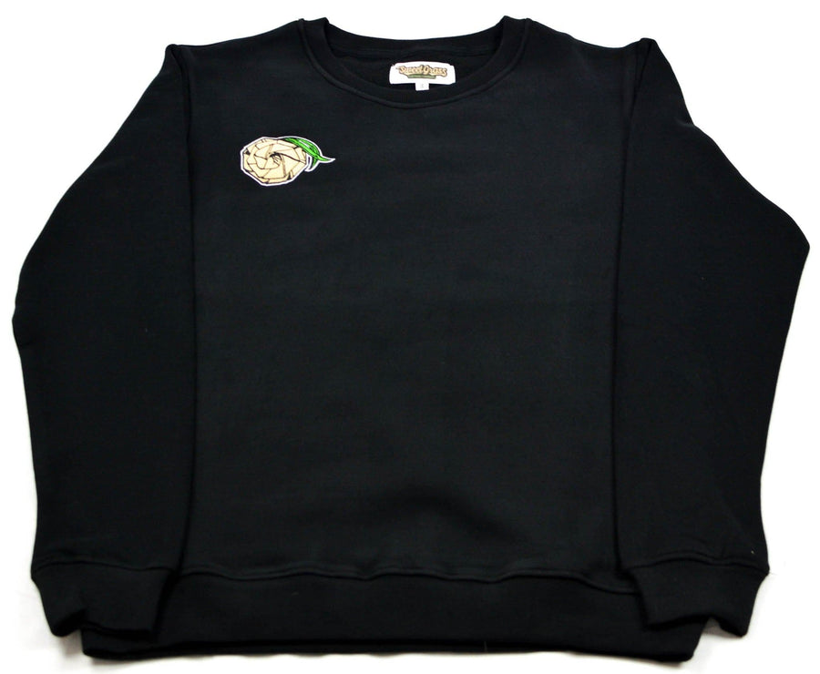 Crew Neck Sweater (Black/Grey) - SweetGrass Clothing Company