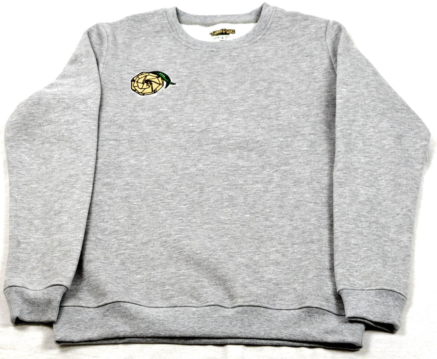 Crewneck Sweater (Grey) - SweetGrass Clothing Company