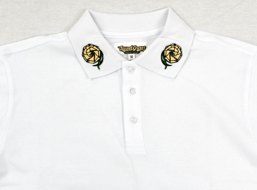 Polo Shirts (White) - SweetGrass Clothing Company