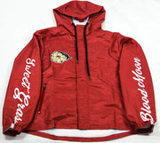 SweetGrass Windbreaker (Black/Blood Moon) - SweetGrass Clothing Company