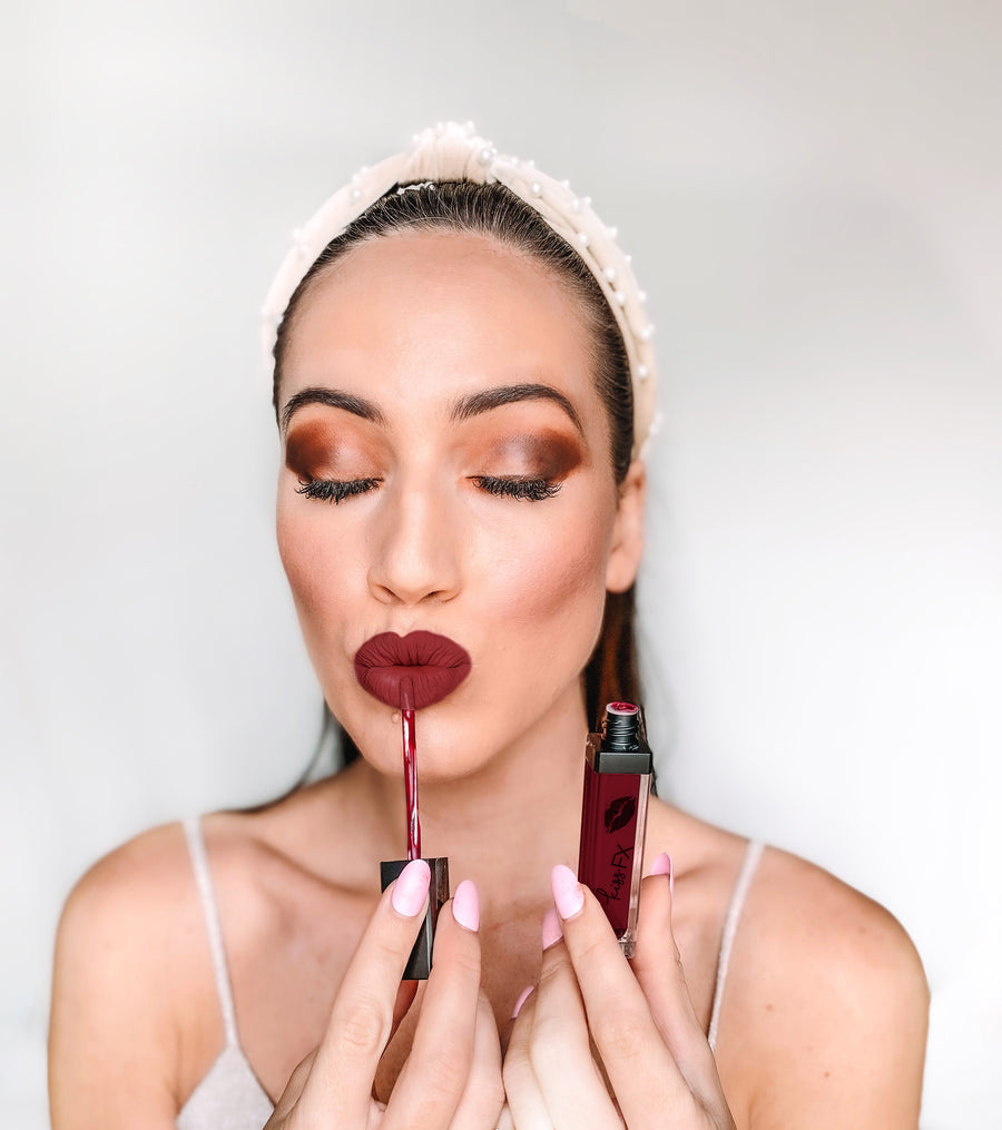 EXCLUSIVE KissFX Bordeaux Matte Liquid Lipstick