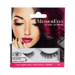 MesmorEyes Full Lashes are human black hair false lashes