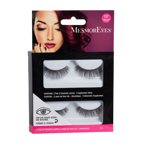 Mesmoreyes False Eyelashes Double Packs- 2 Styles Natural & Dramatic