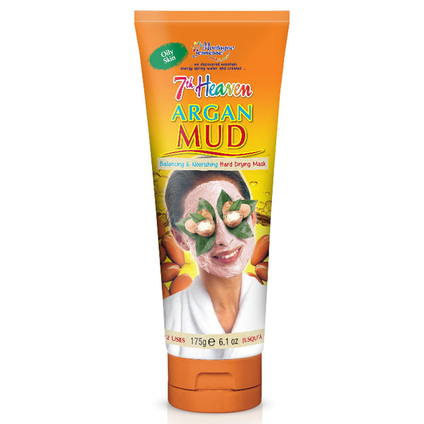 Argan Mud Face Skin Care Hard Drying Mask 7th Heaven - 155mL