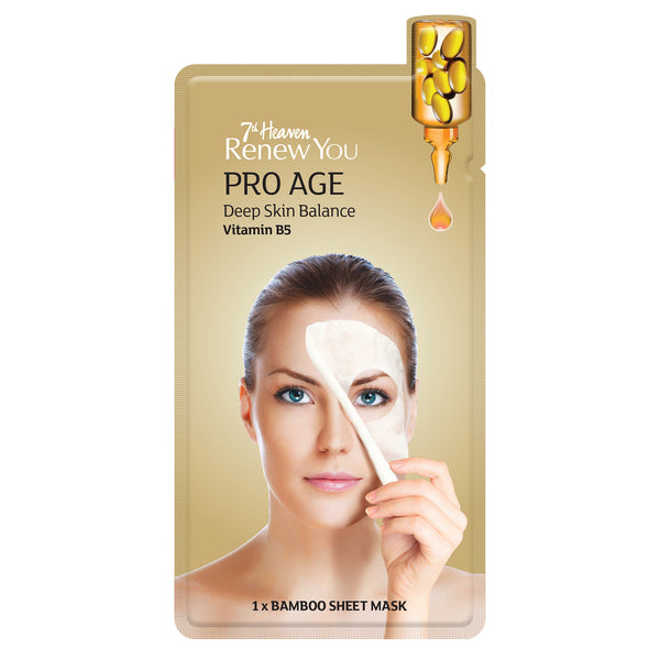 Renew You Pro Age Bamboo Sheet Face Mask Skincare By 7th Heaven