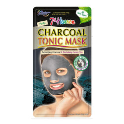 Charcoal Tonic Sheet Face Mask Skincare 7th Heaven