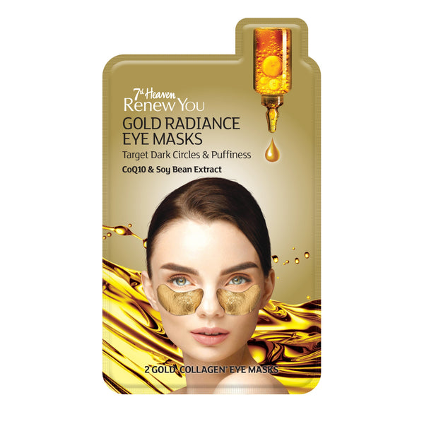 Renew You Gold Radiance Collagen Eye Mask Target Dark Circles & Puffiness - 3 Pack 7th Heaven