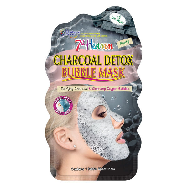Charcoal Detox Bubble Sheet Face Mask Skincare 7th Heaven