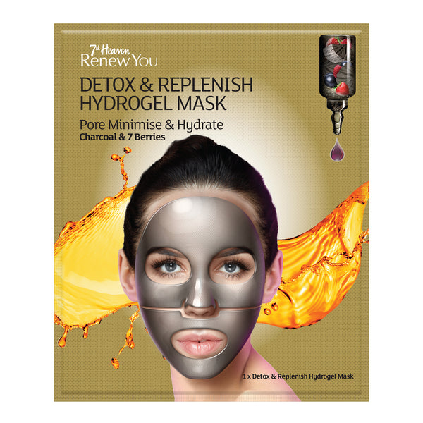 Renew You Detox & Replenish Hydrogel Face Mask Skincare 7th Heaven