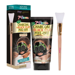 Charcoal Black Clay Peel Off Face Mask Skincare 100g Tube With Applicator 7th Heaven