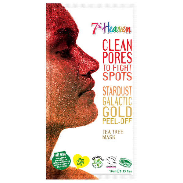 Stardust Face Peel Off Mask - Galactic Gold 7th Heaven