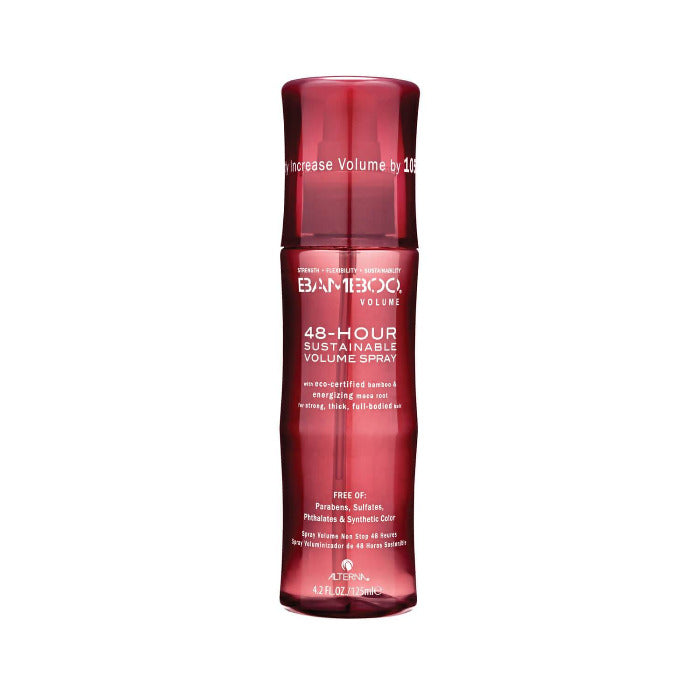 Alterna Bamboo 48 Hours Sustainable Volume Hair Spray For Strong Thick Full Bodied Hair
