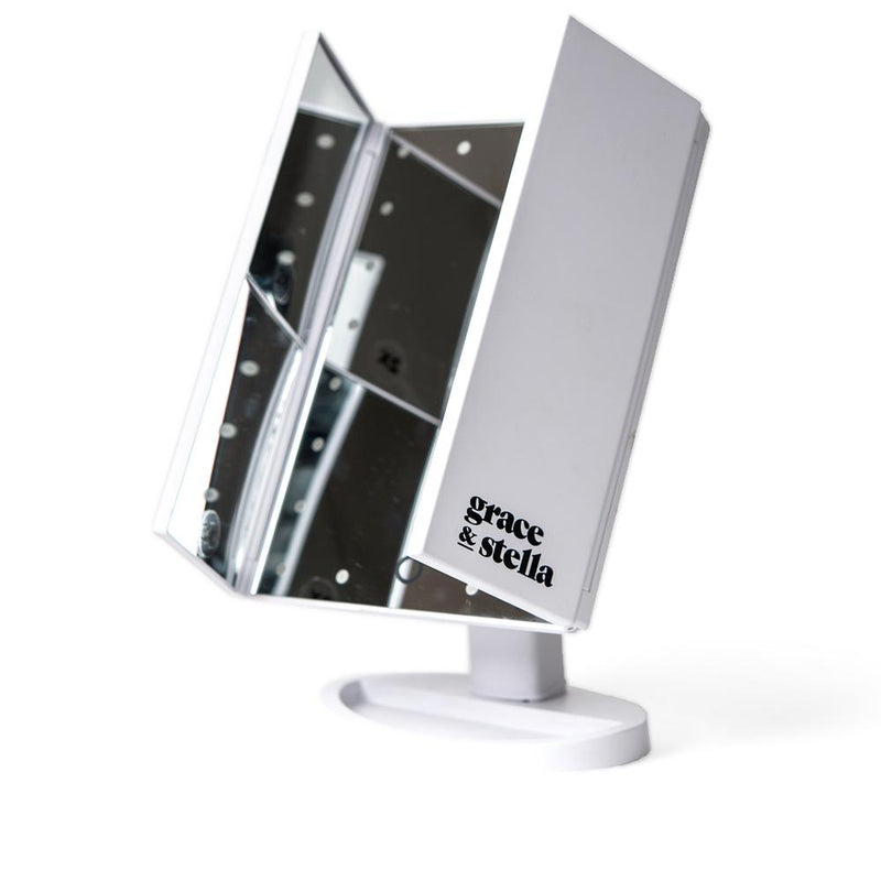 Grace & Stella Trifold LED Vanity Mirror