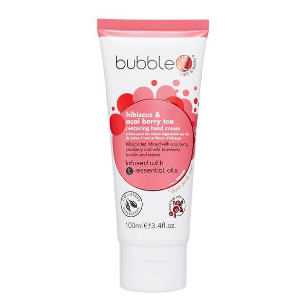 Bubble T Hand Cream Lotion Hibiscus
