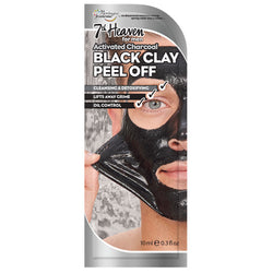 Men's Black Clay Peel Off Mask By 7th Heaven