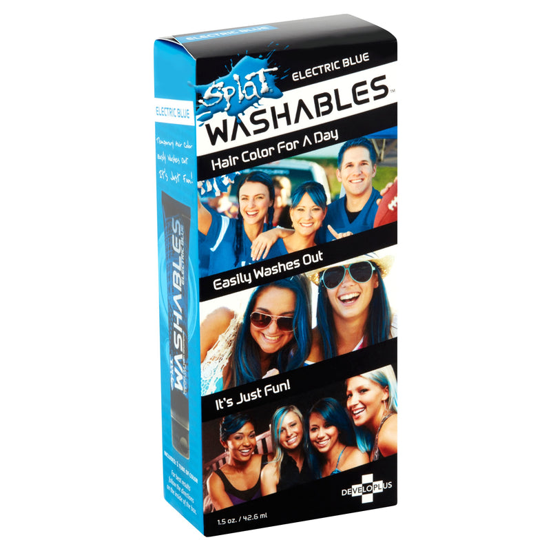 Splat Washables Wash Out Hair Color Dye  Electric Blue