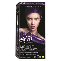 Splat At Home Hair Dye For Brunettes Midnight Complete Kit Amethyst Darkest Violet