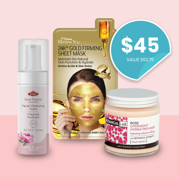 Everything is Coming Up Rose Gold Skincare Gift Set