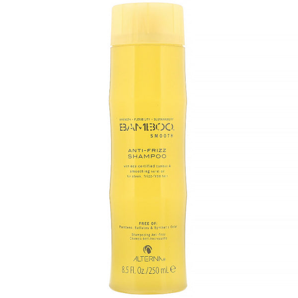 Alterna Bamboo Anti-Frizz shampoo nourishes hair and builds stronger, frizz-free hair