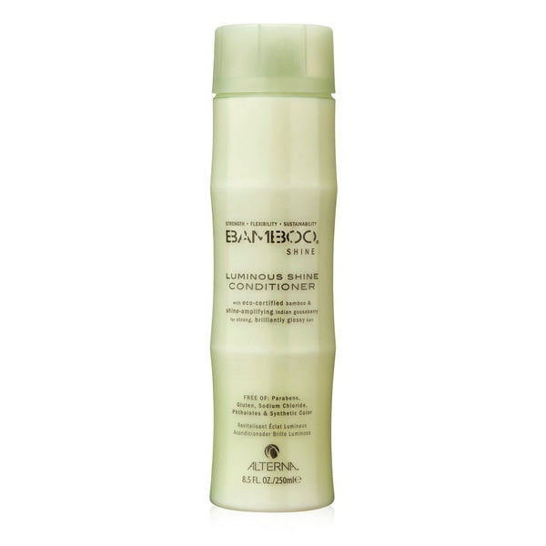 Alterna Bamboo Luminous Shine Conditioner restores strength and healthy radiance for coloured hair
