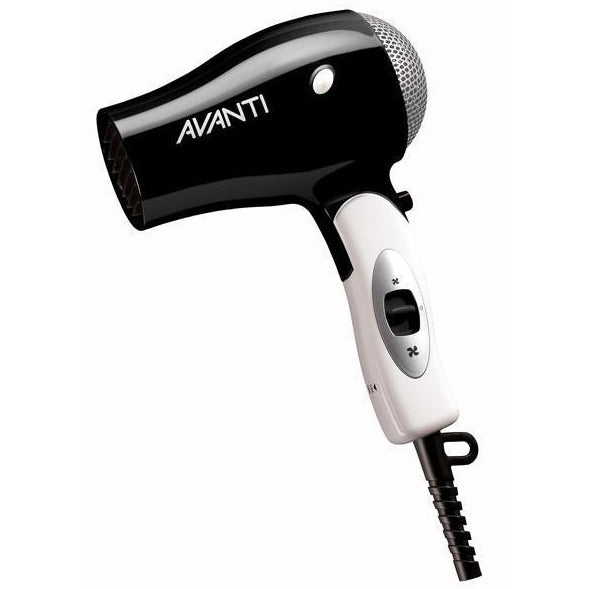 Avanti Folding Travel Hair Dryer is smart traveling as it folds to be compact.