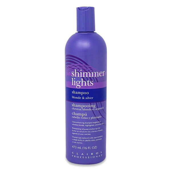 Clairol Shimmer Lights Toning Shampoo For Blonde Grey Hair