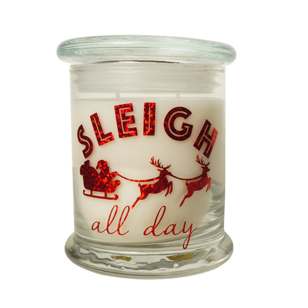 Cola Candle Company Holiday Sleigh All Day Green Tea And White Pear Candle