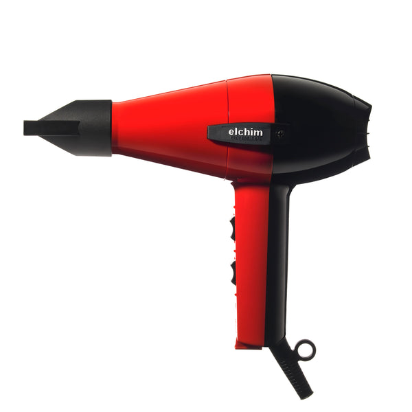 Elchim 2001 High Pressure Hair Dryer Black and Red