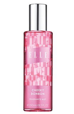 ELLE Fragrance Mists - Cheeky Bonbon - A scent mist, also known as a body splash or body spray, looks a lot like a perfume. However, unlike perfumes, it can be liberally sprayed all over the body and reapplied throughout the day for a quick refresh.