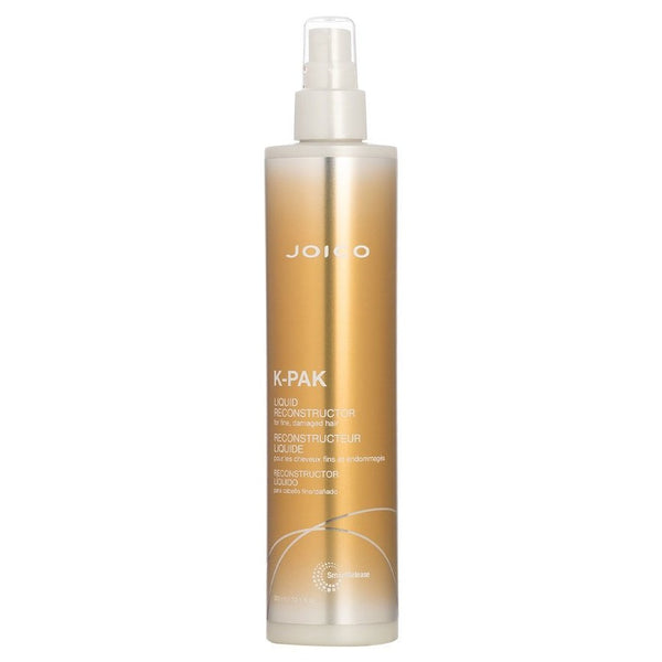 Joico K-PAK Liquid Reconstructor; Many intensive treatments come on strong…and heavy; Liquid Reconstructor manages to work wonders with a super-light, spray-on formula that won't weigh fine, fragile strands down.