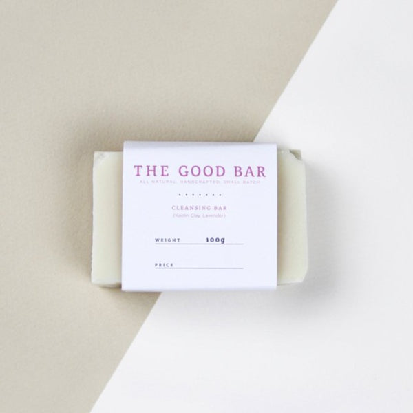 The Good Bar Kaolin Clay Cleansing Bar