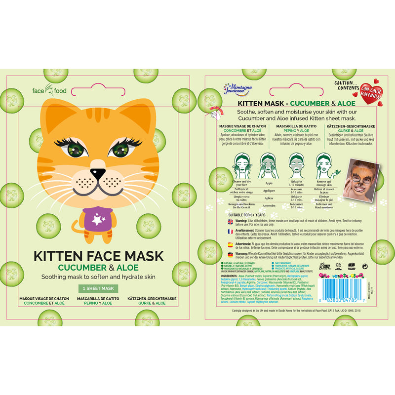 Face Food Animal - Kitten Face Mask Skincare By 7th Heaven